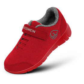 Giesswein Merino Wool Runners Kinderen, flame red